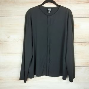 Eileen Fisher Button front Silk Blouse